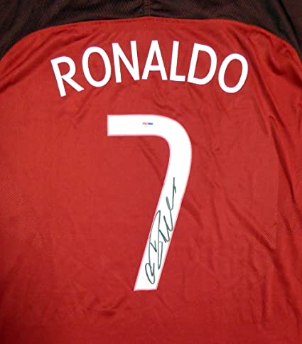 f58e516531 Cristiano Ronaldo Autographed Portugal Nike Authentic Red Jersey Size XL  PSA DNA. Roll over image ...