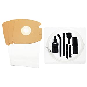 UpStart Battery 3 Replacement Eureka Mighty Mite Pet Lover 3684F Vacuum Bags with 7-Piece Micro Vacuum Attachment Kit - Compatible Eureka Style MM Vacuum Bags