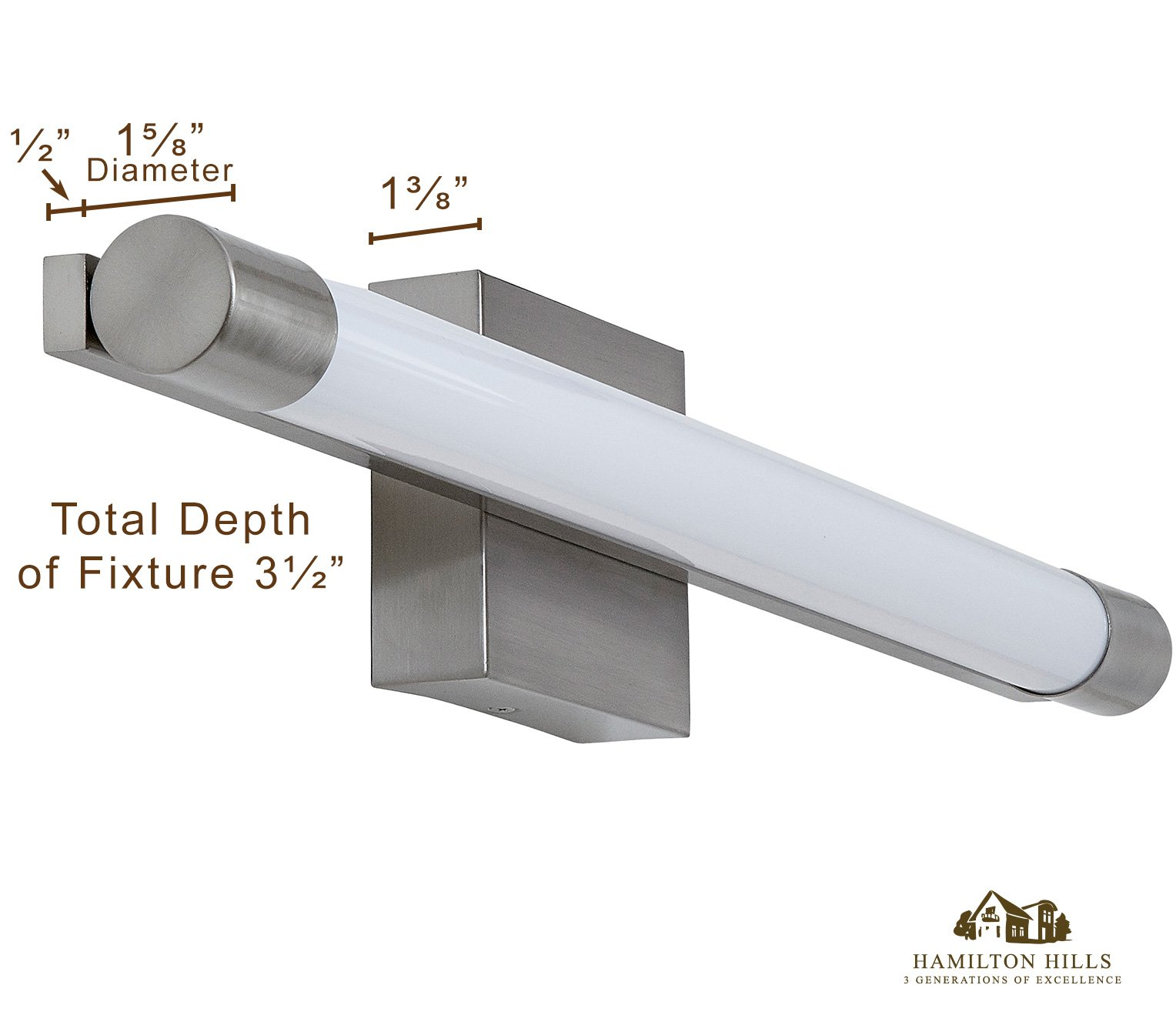 """New Slim Line Modern Frosted Bathroom Vanity Light Fixture 