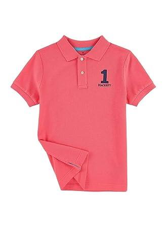 1a23fd2c Hackett Boys Salmon Pink Polo Top (3-4 Years): Amazon.co.uk: Clothing