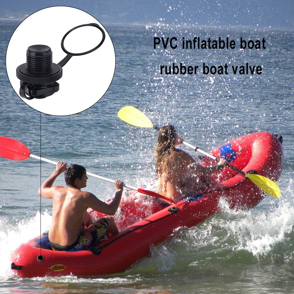 5x Plastic Safety Air Valve Nozzles for Inflatable Kayak Rubber Boat Tender Raft