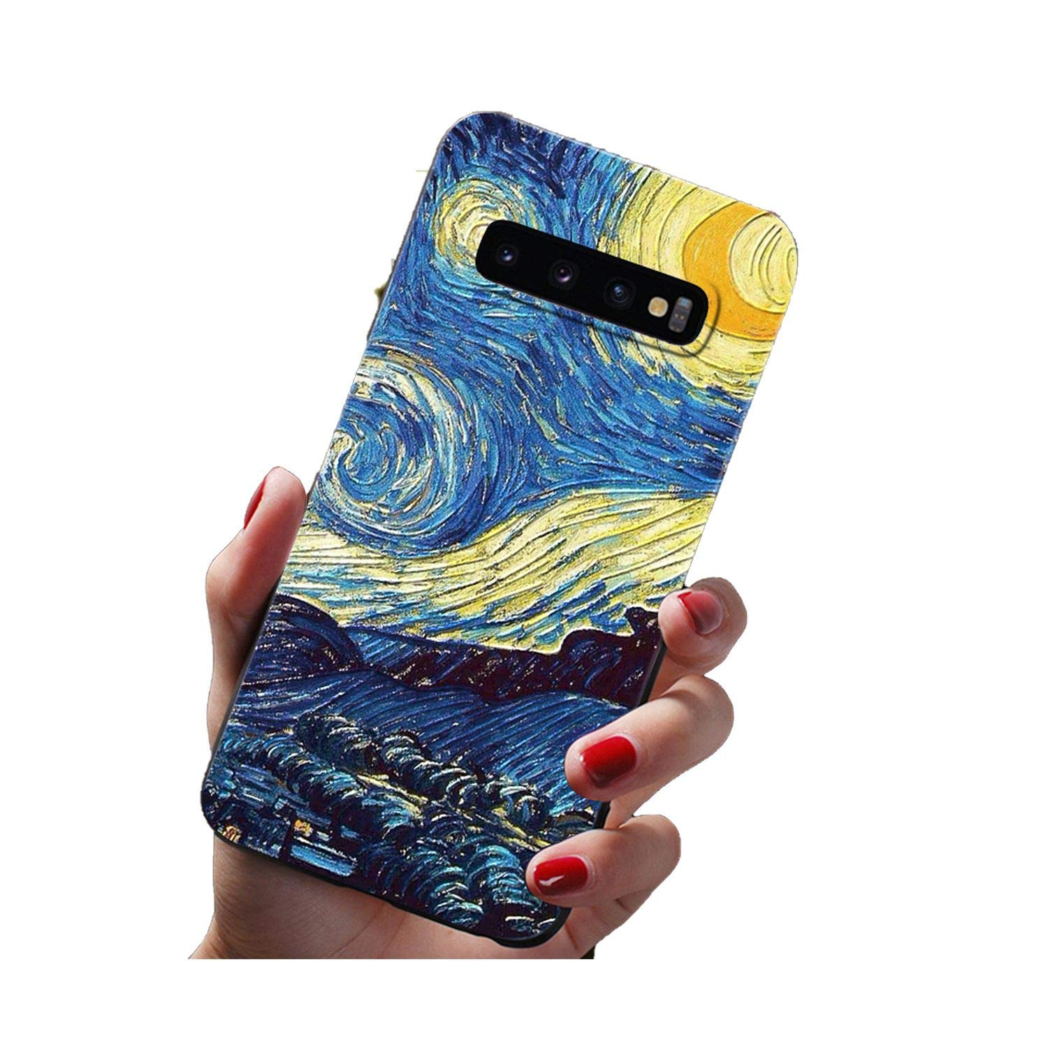Amazon.com: 3D Emboss TPU Case for Samsung Galaxy S8 S9 S10 ...
