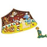 Janod - J07060 - Puzzle Bois Cirque étoiles 6 pcs