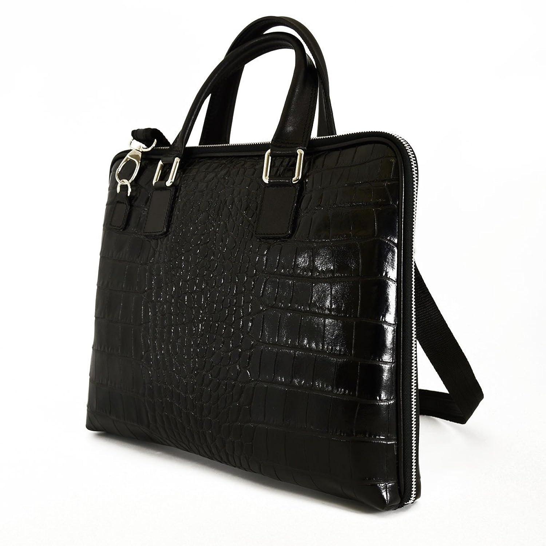 A4 Konferenzmappe Aus Echtem Leder Mit Inneren Fächern Farbe Schwarz - Italienische Lederwaren - Aktentasche Dream Leather Bags Made in Italy mrHXTv