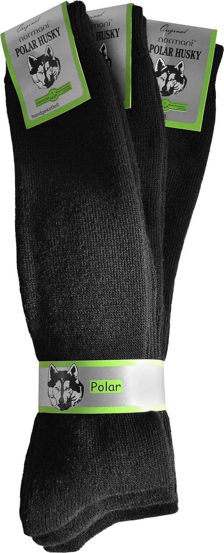 3 Paar Thermo-Kniestrümpfe oder Thermo-Socken von POLAR HUSKY® mit Vollplüsch und Schafwolle / Sehr warm! / Perfekt für Stiefel geeignet. / Nie wieder kalte Füße!