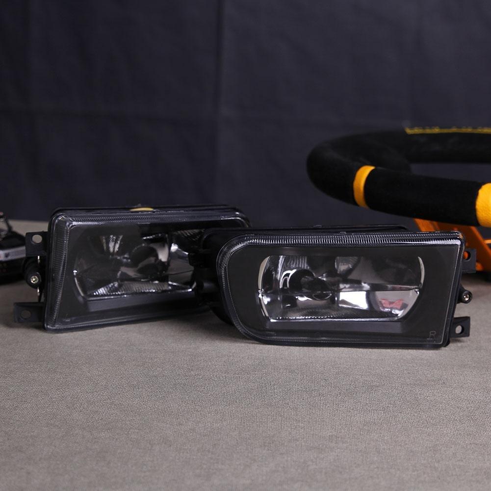 Foru-1 Juego de Faros antiniebla con Lente de Cristal Transparente para BMW E39 5-Series 95-02