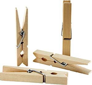 """Sorillo Brands 50 Wooden Clothes Pins - 2-7/8"""""""