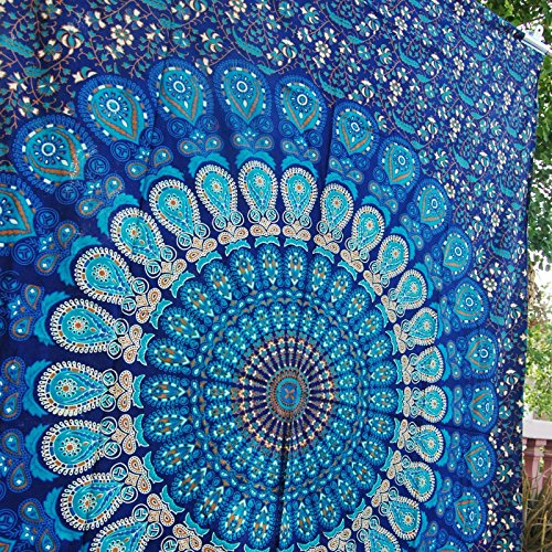 Future Handmade Hippy Mandala Bohemian Tapestries Hippie Tapestry Indian Dorm Decor Psychedelic Tapestry Wall Hanging Ethnic Decorative Tapestry 84×54…