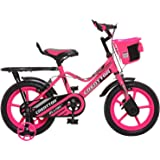 Ollmii Bikes 14 inches Pink Unisex Kids Cycle for 3 to 5 Years Age Group