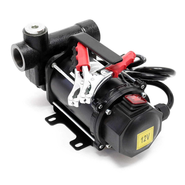 Pompe Diesel Auto aspirante 80l//min 550 Watts 12V Hauteur daspiration 3m Fuel Pompe /à huile Gasoil