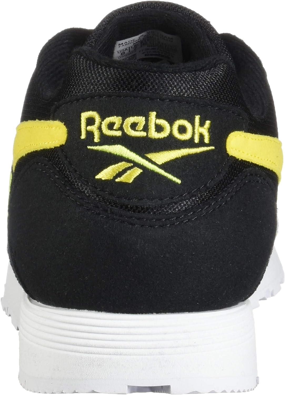 Reebok Rapide, Scarpe da Ginnastica Uomo Nero Go Yellow Neon Lime Bianco