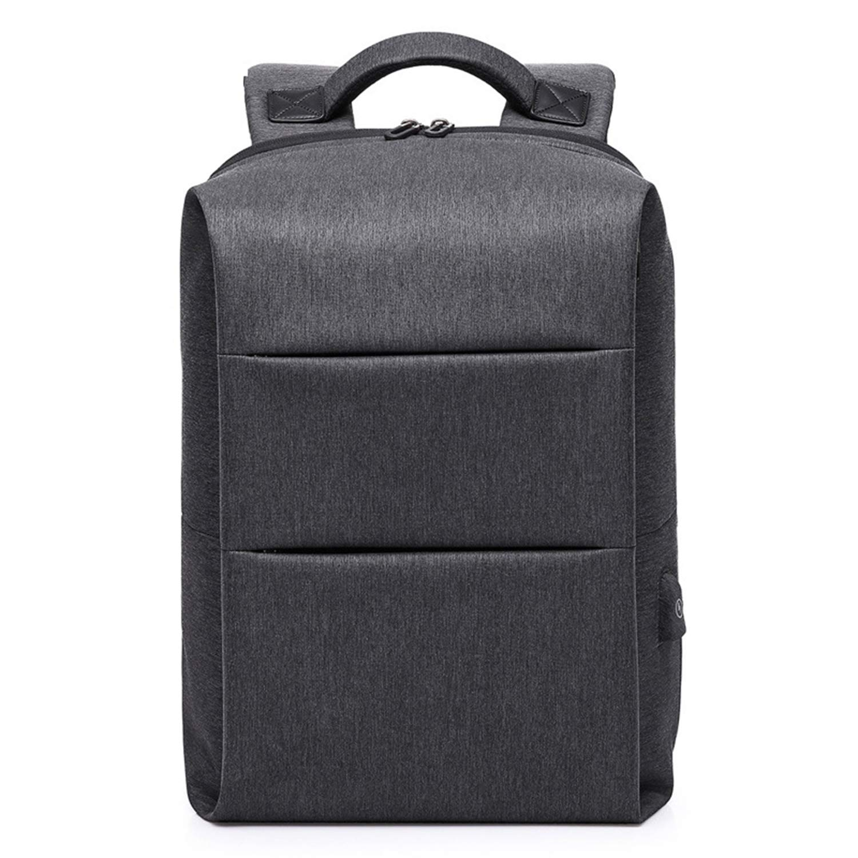 ノートパソコンのバックパック レジャー 旅行用バックパック USB充電ポート付き コンピュータのバックパック メンズマルチレイヤー収納袋 学生バッグ  Black B07PQ1QYPD
