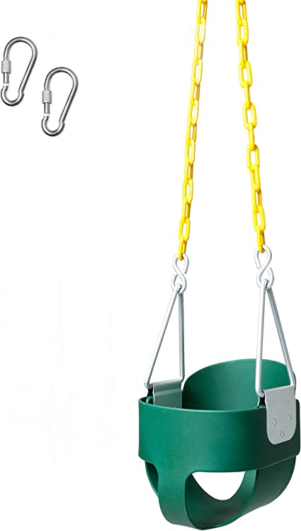 Fully Assembled Safety Coated Swing Chain Easy Setup Barcaloo 250 lb Weight Capacity Heavy Duty High Back Toddler Bucket Swing