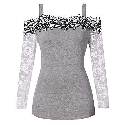 a0a586aebf6168 Amazon.com  TOTOD Tops Fashion Womens Long Sleeve Plus Size Pullover ...