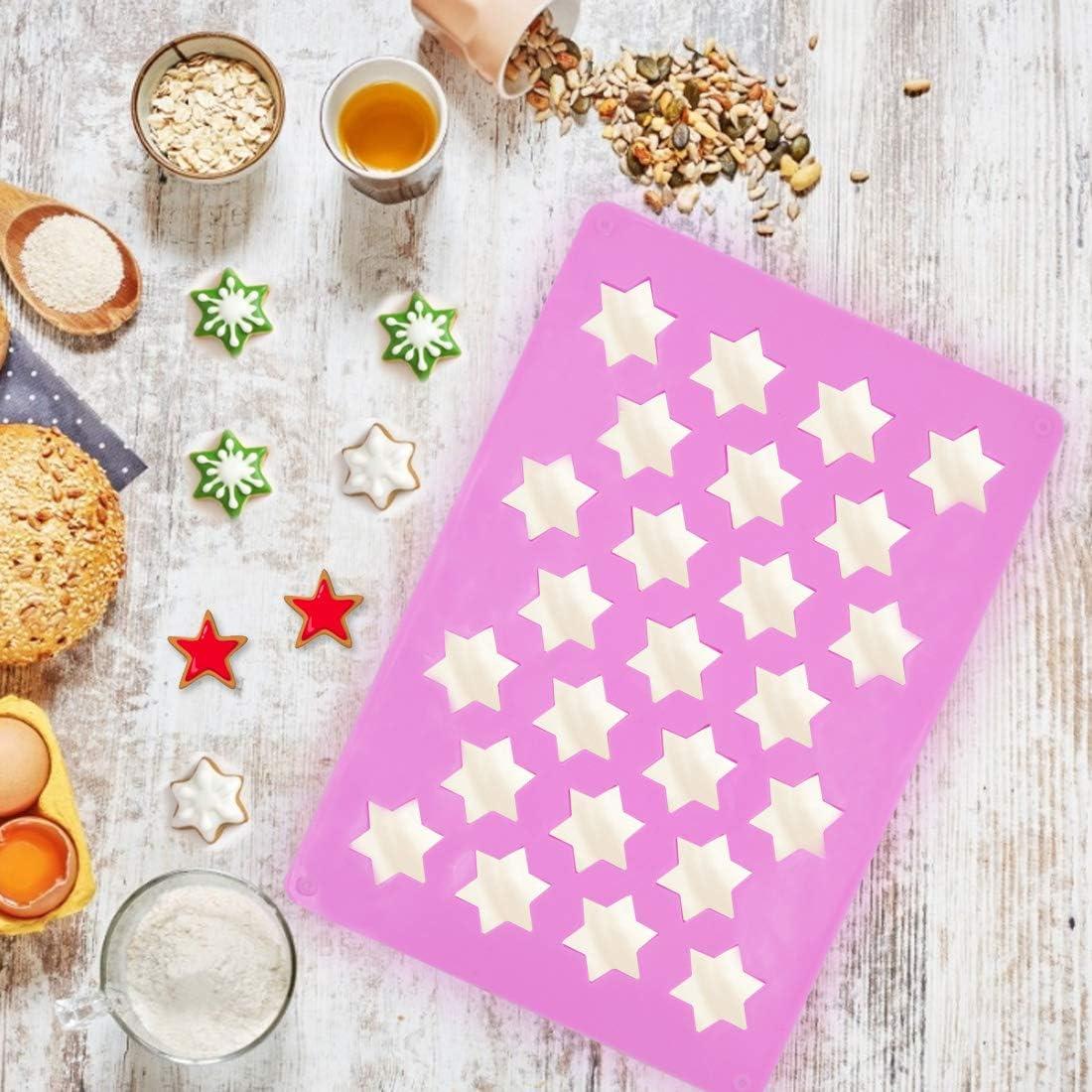 Pudding g/âteaux ZSWQ Zimtstern Silicone pour 25 /Étoiles Cannelle Brownies Cupcakes Lavable au Lave-Vaisselle pour Muffins