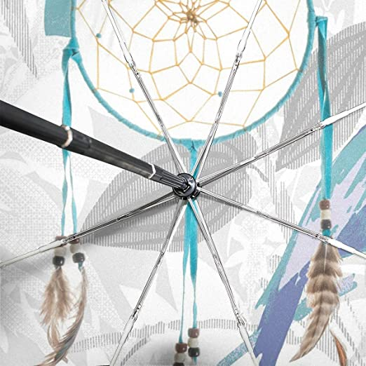 cbabd03fe9f9 Amazon.com: Dreamcatcher Turquoise Good Meaning Lightweight Umbrella ...