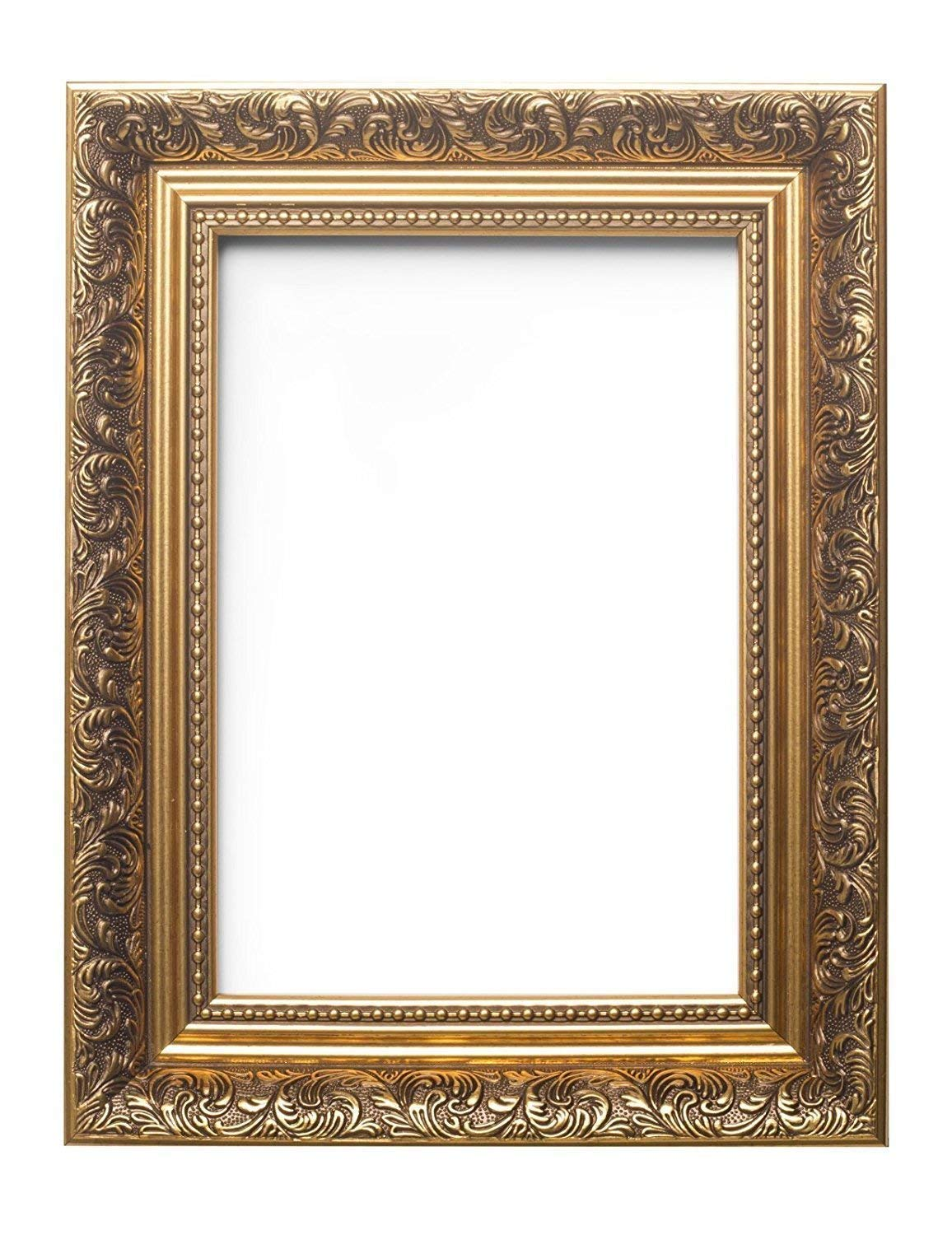 Memory Box Ornate Swept Antique Style French Baroque Style Picture Frame/Photo Frame/Poster Frame - 10''X8'' Gold - FBA-OSAFS2-GLD-10-8 by Paintings Frames