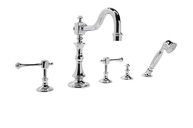roman tub faucet with sprayer. Anzzi Kitt Series 3 Handle Deck Mount Roman Tub Faucet With Handheld Sprayer  In Amazon Com