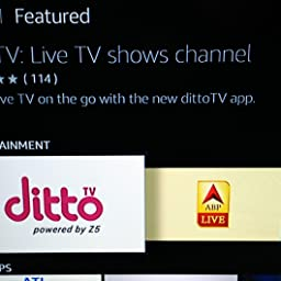 Amazon in:Customer reviews: dittoTV: Live TV shows channel