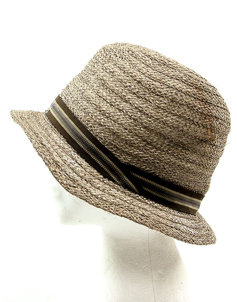 Grevi Men s Loose Visca Fedora Hat in Taupe Size Medium at Amazon Men s  Clothing store  d717465575ff