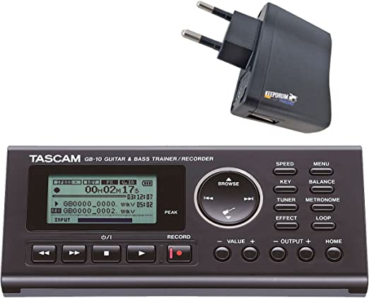 Tascam GB Grabador de 10 Trainer para guitarra y bajo Keepdrum USB ...