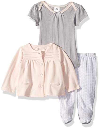 81743cddb9 Amazon.com  JUST BORN Baby Girls Keepsake 3 Piece Cardigan