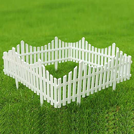 sungmor valla de jardín, plástico color blanco edgings, hierba césped flores planta las fronteras, paisaje camino paneles: Amazon.es: Jardín