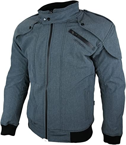 Heyberry Soft Shell Motorradjacke Textil Grau Meliert Gr Xl Auto