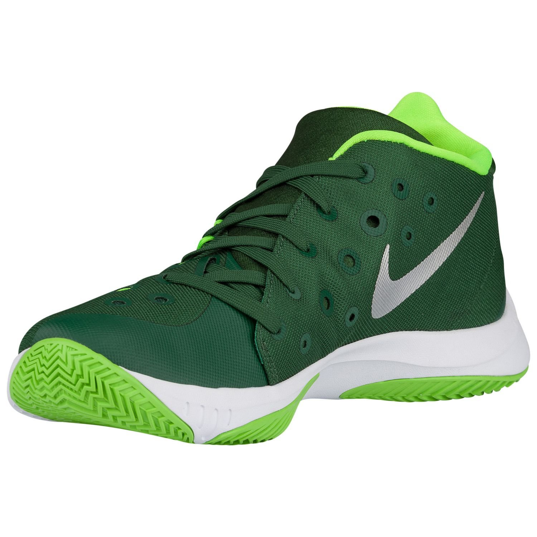 NIKE Mens ZM Hyperquickness 2015 TB Mesh Zoom Basketball Shoes B00Q720CLC 6 M US|Gorge Green/Electric Green/Metallic Silver