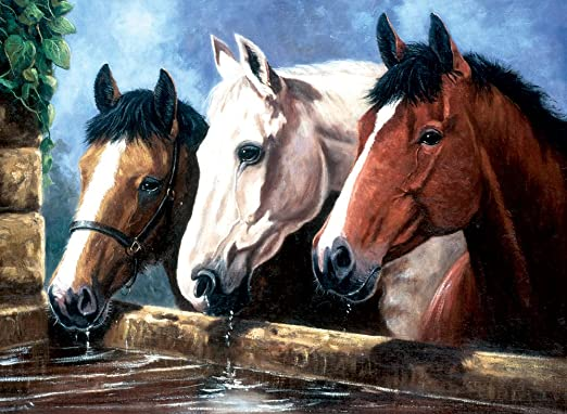Pjl13 Horses And Foals Royal Langnickel Painting By