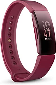 Fitbit FB412BYBY Inspire Health and Fitness Tracker with Auto-Exercise Recognition, 5 Day Battery, Sleep and Swim Tracking, Sangria