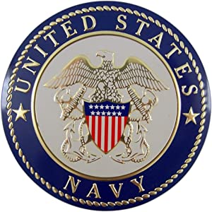 United States Military Navy Metal Decal Emblem, 4 Inch