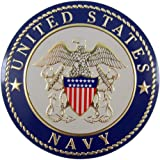 United States Military Navy Metal Auto Decal Emblem, 4 Inch