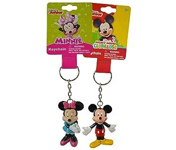1 x Disney Mickey y Minnie Mouse figura 3d llavero Set ...