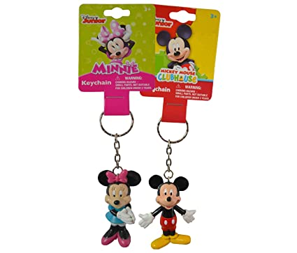 Betere Amazon.com: 1 X Disney Mickey and Minnie Mouse Figure 3D Keychain DV-77