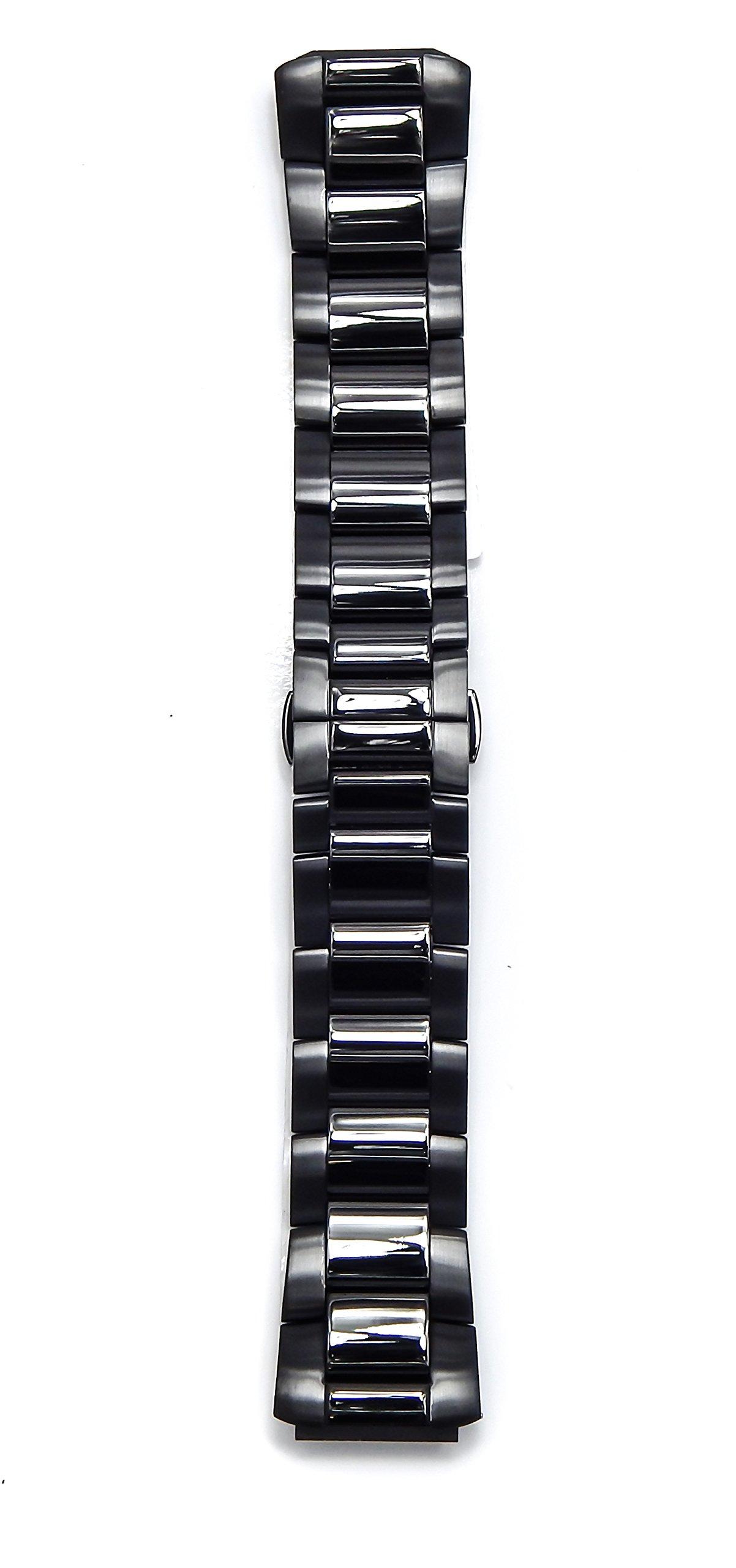 Philip Stein Black Plated Brush Watch Band 3-SSBP