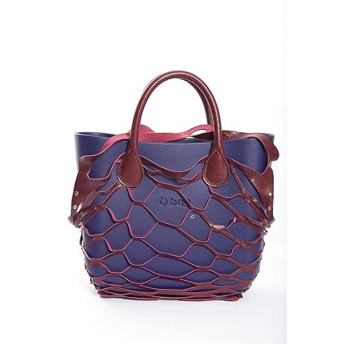 Cover rete per borsa Mini O Bag in pelle bordeaux: Amazon.it