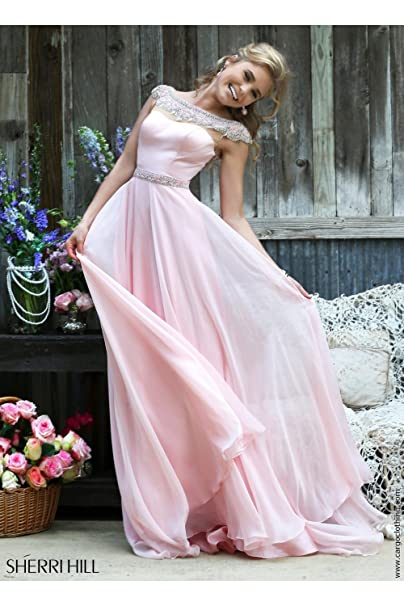 Sherri Hill 32220 Blush Full falda – Funda para vestidos de novia rosa Rubor 34