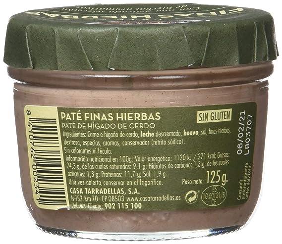 Paté finas hierbas - Casa Tarradellas - 125 g - , Pack de 6 ...
