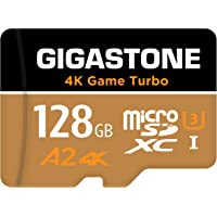 Gigastone 128GB Micro SD Card, 4K Game Turbo, MicroSDXC Memory Card for Nintendo-Switch Compatible, R/W up to 100/50MB/s…