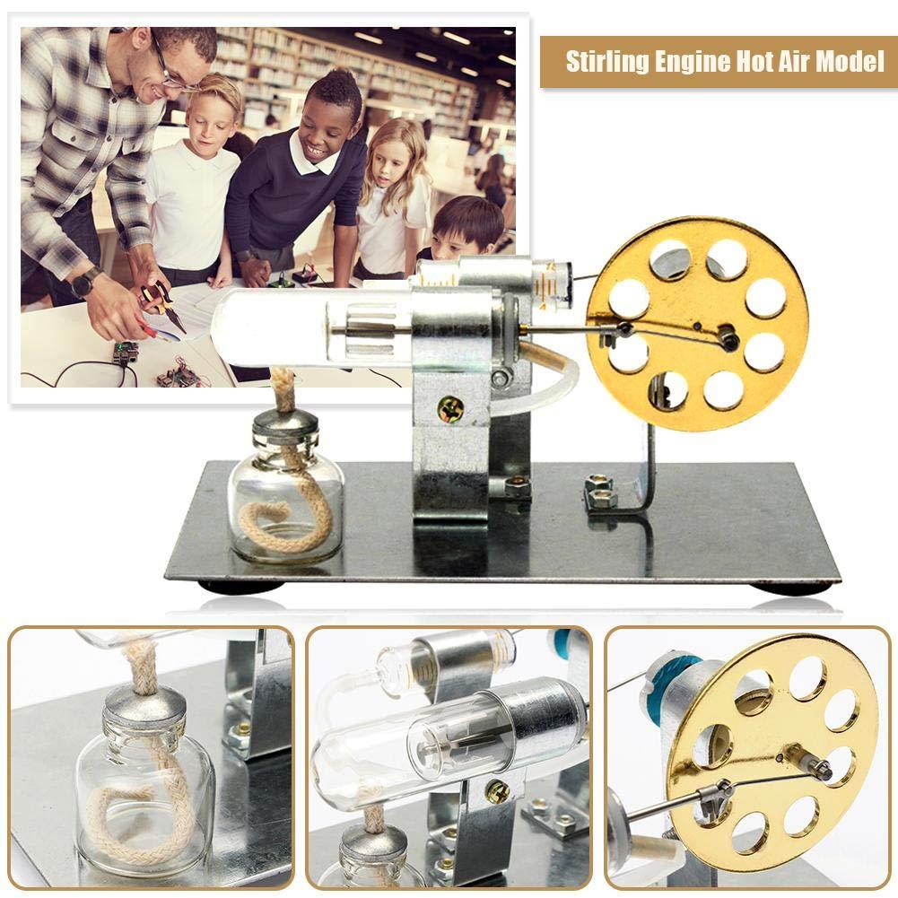 Bloomma Stirling Engine Education Kit Modello di Giocattolo Acciaio Inossidabile a Bassa Temperatura Esaurito la Differenza di Temperatura Motore a Vapore con Motore Stirling ad Aria Calda