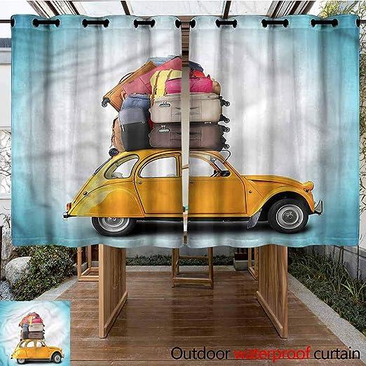 Sunnyhome Cortina de Puerta corredera Marshall Beach en California aislada con Ojales para Dormitorio: Amazon.es: Jardín