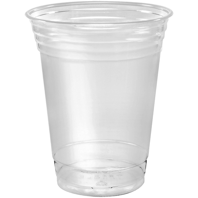 SOLO Cup Company, Ultra Clear Cups, PET, 50/Bag, 1000/Carton TP16D, 16 oz