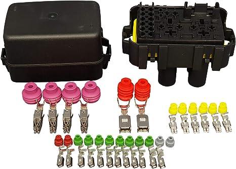 amazon.com: mta waterproof fuse relay box panel module for 6 mini ... mta relay fuse box  amazon.com