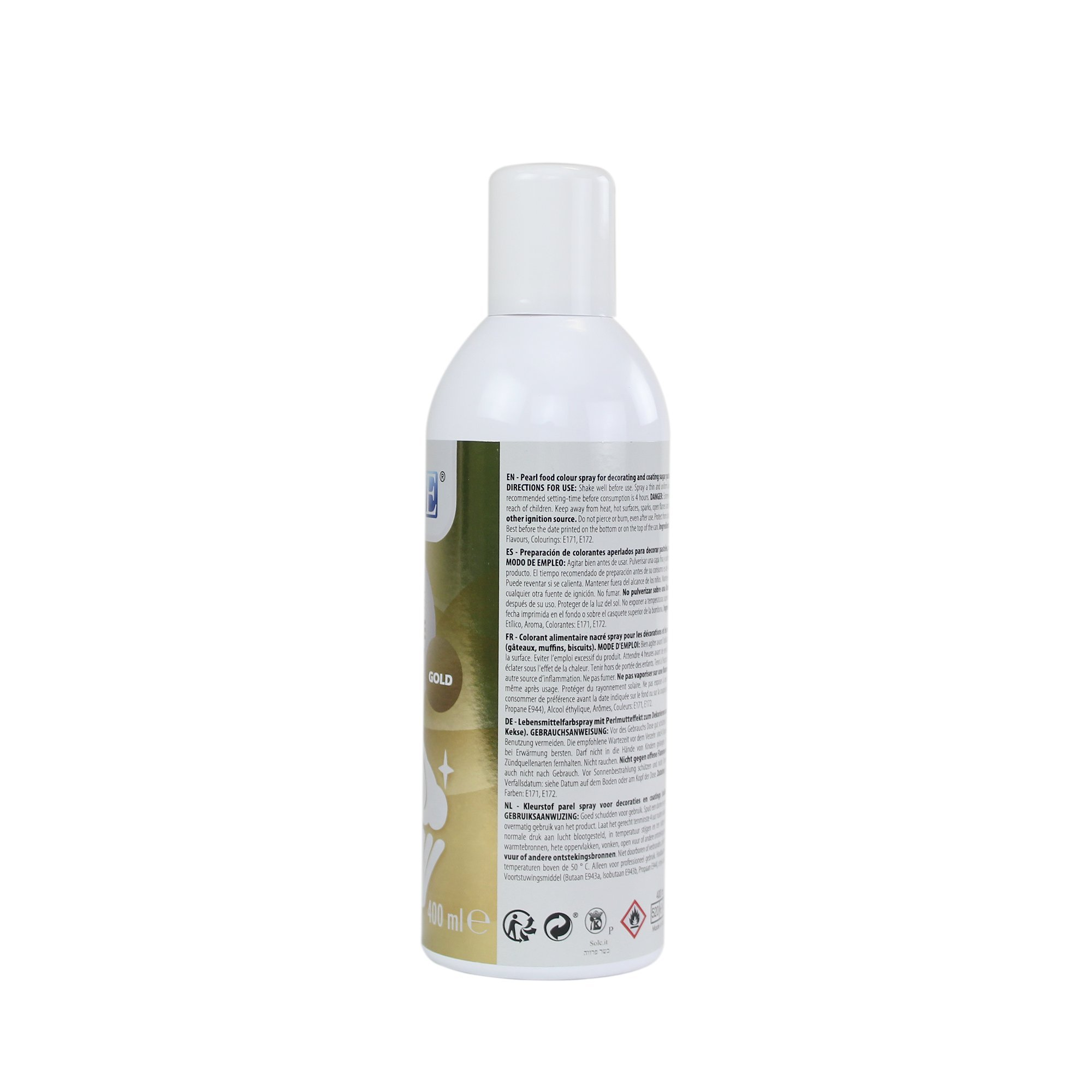 PME LS794 Tall Edible Lustre Spray Tall Can-400ml (13.5 oz), Tall, Gold by PME (Image #4)