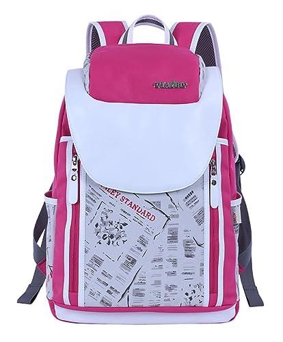 OULINBEIN Cool College School Laptop Mochila Pack con patrón de hermosos hecho de lienzo Rosa: Amazon.es: Zapatos y complementos