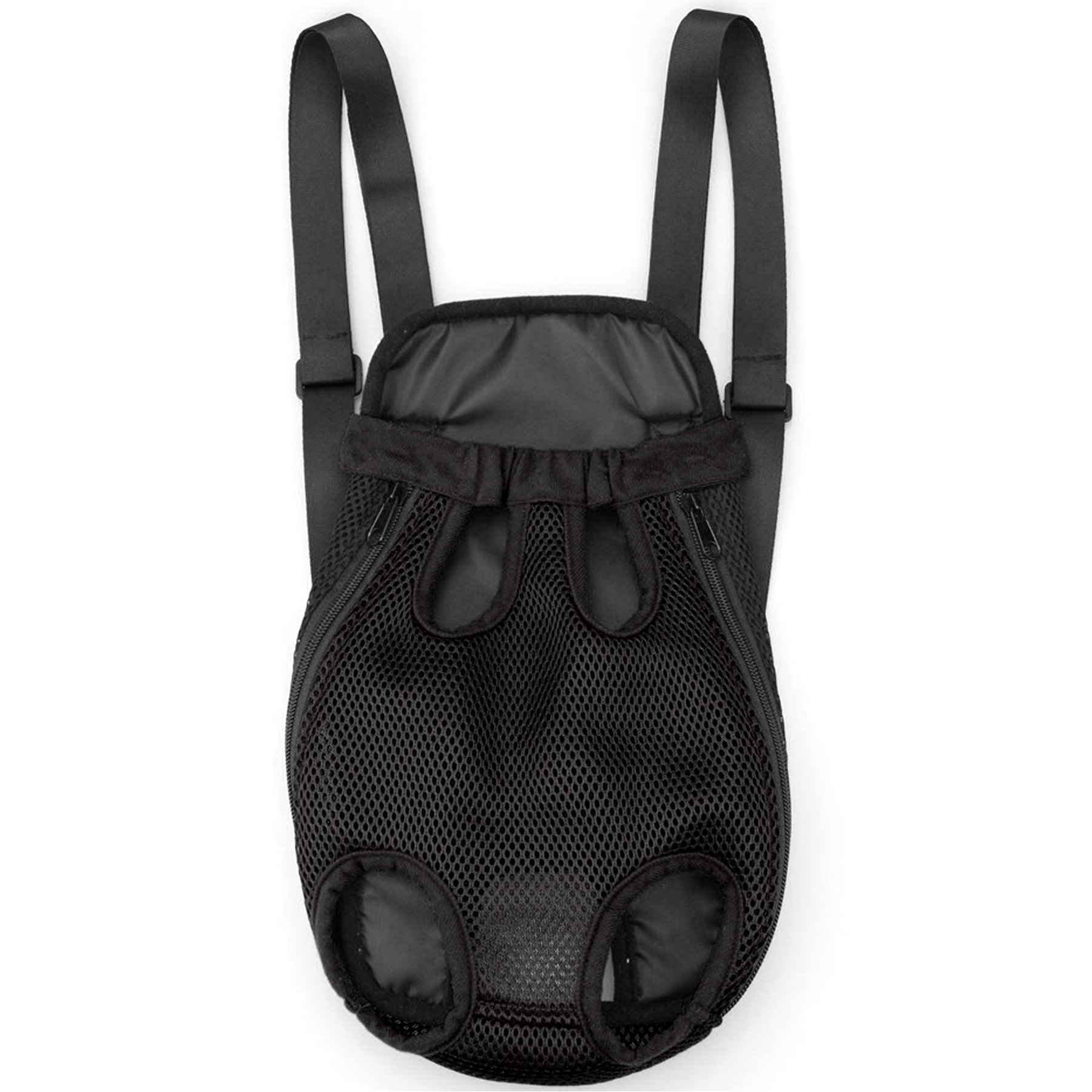 Alfie Pet by Petoga Couture - Alex Pet Backpack or Front Carrier with Adjustable Strap - Color: Black, Size: Medium