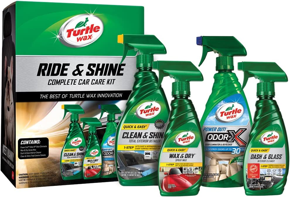 Turtle Wax 50718 Ride & Shine Complete Car Care Kit, 73. Fluid_Ounces