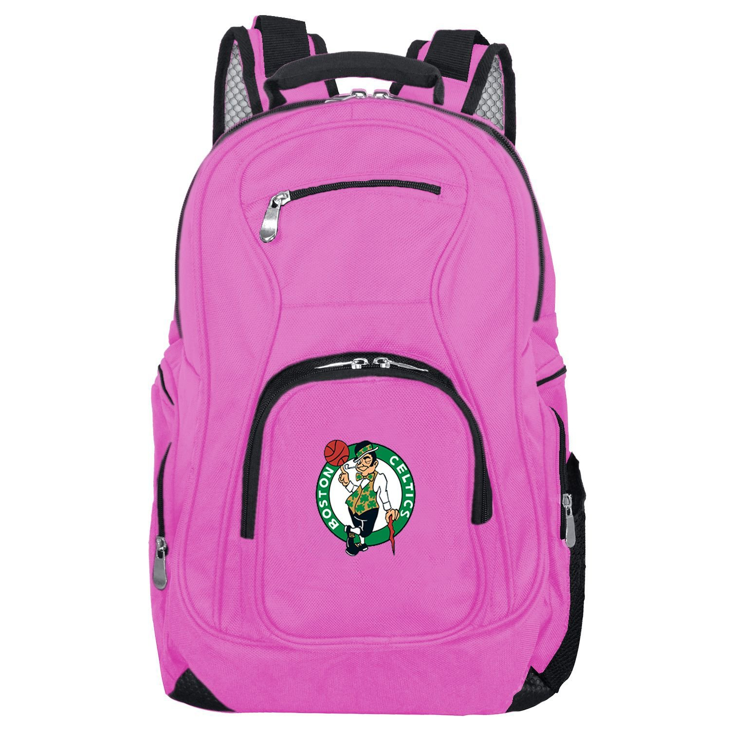 NBA Boston Celtics Voyager Laptop Backpack, 19-inches, Pink
