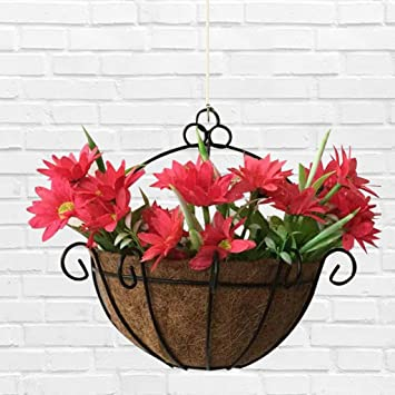 Amazon Com Ladaidra Flowerpot Iron Coconut Diy Garden Hanging